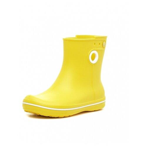 Резиновые сапоги Crocs Women's Jaunt Shorty Boot, размер 36(W6), yellow шлепанцы crocs crocband flip размер 36 37 m4 w6 navy