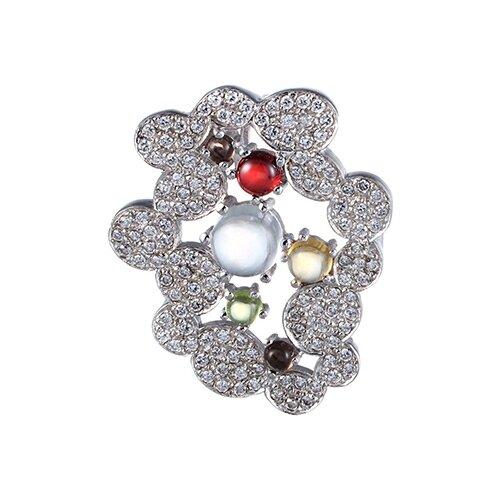 цена на JV Подвеска с россыпью цветных камней из серебра PPP0001231-CT-GA-GRB-SQ-001-WG