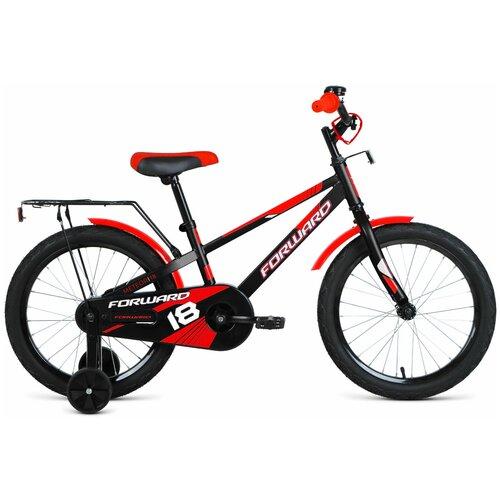Фото - Детский велосипед FORWARD Meteor 18 (2020) черный/красный (требует финальной сборки) детский велосипед forward barrio 18 2020 красный требует финальной сборки