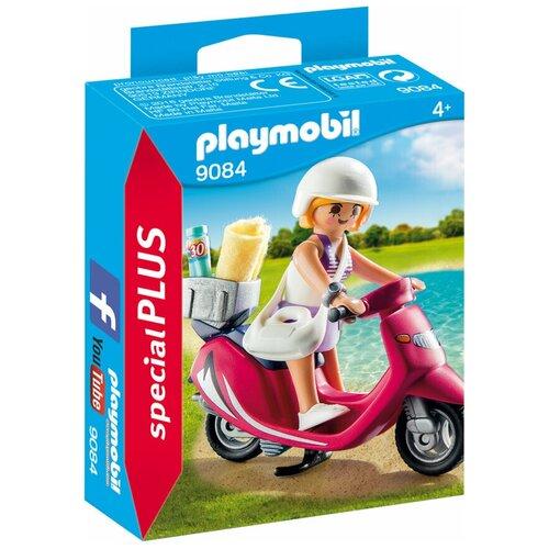 Купить Конструктор Playmobil Special Plus 9084 Девушка с мотороллером на пляже, Конструкторы