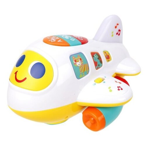 Купить Развивающая игрушка Play Smart Расти, малыш Крошка самолет 7724 белый/желтый/зеленый, Развивающие игрушки