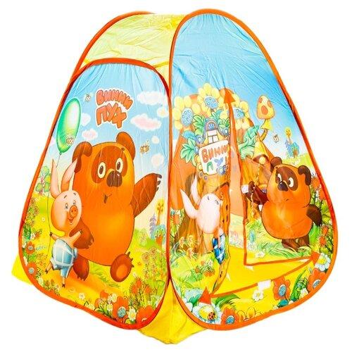 Палатка Играем вместе Винни-Пух конус в сумке GFA-VN01-R желтый