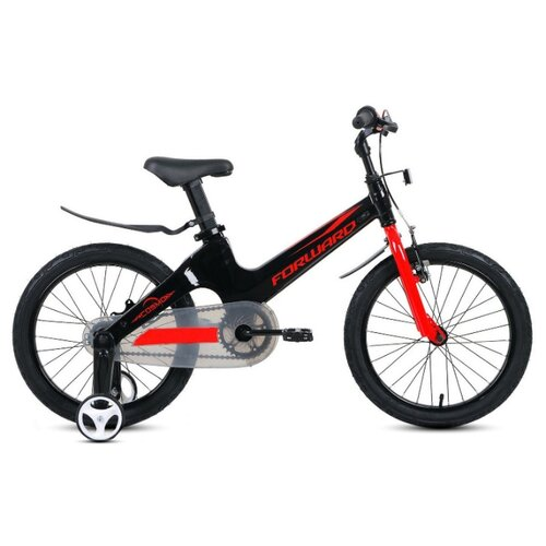 Детский велосипед FORWARD Cosmo 18 (2020) черный/красный (требует финальной сборки)