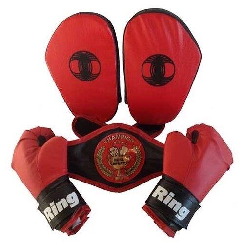 цена на Набор для бокса Realsport Лидер красный/черный