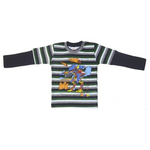 Купить Лонгслив Kirpi размер 92, темно-синий, Футболки и рубашки