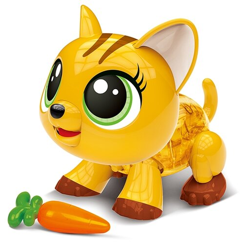 Купить Робот Runli Toys Trolly Pets - Cat K-79 желтый/коричневый, Роботы и трансформеры