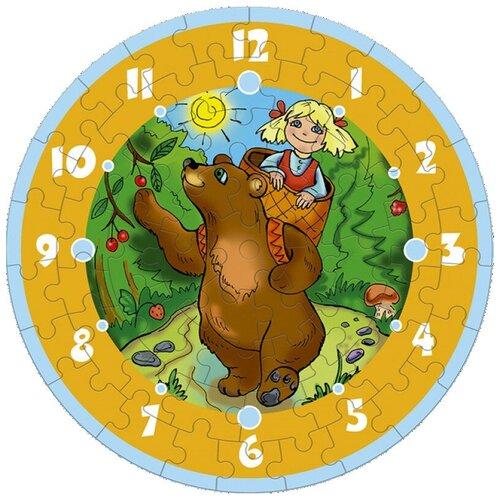 Часы-пазл Умная Бумага Часы Маша и Медведь (126-02), 61 дет.