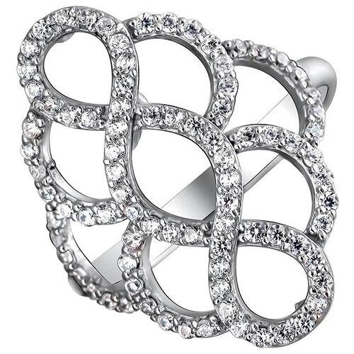 Эстет Кольцо с 86 фианитами из серебра 01К1511450, размер 18