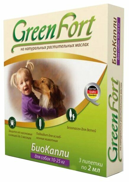 GreenFort БиоКапли от блох для собак