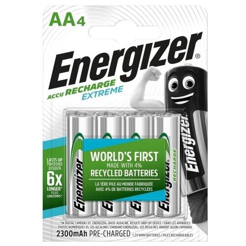 Фото - Аккумулятор Ni-Mh 2300 мА·ч Energizer Accu Recharge Extreme AA, 4 шт. батарейка energizer max plus aa 4 шт