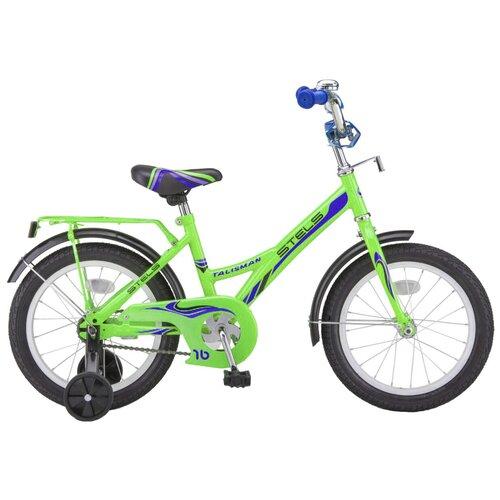 Детский велосипед STELS Talisman 14 Z010 (2018) зеленый 9.5 (требует финальной сборки) детский велосипед stels jet 14 z010 2018 белый синий 8 5 требует финальной сборки