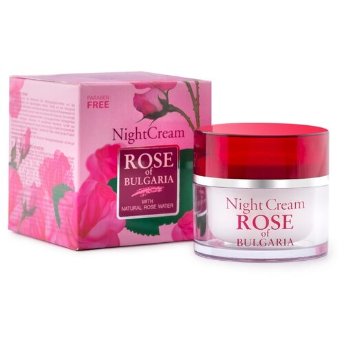 Rose of Bulgaria Night Cream with natural rose water Крем для лица ночной, 50 мл