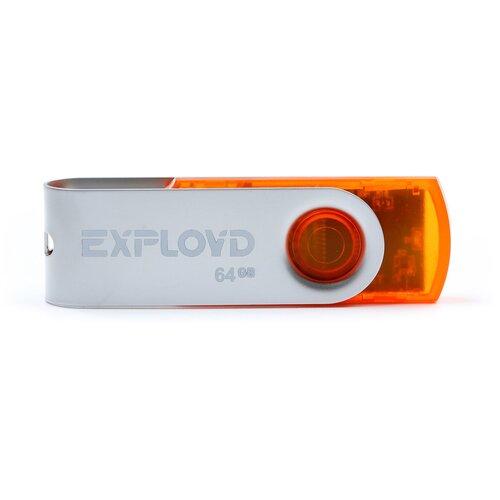 Фото - Флешка EXPLOYD 530 64 GB, orange флешка exployd 580 64 gb black