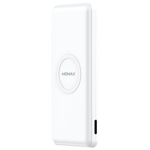 Аккумулятор MOMAX Q.Power Minimal Wireless 10000 mAh, белый аккумулятор momax ipower air белый коробка
