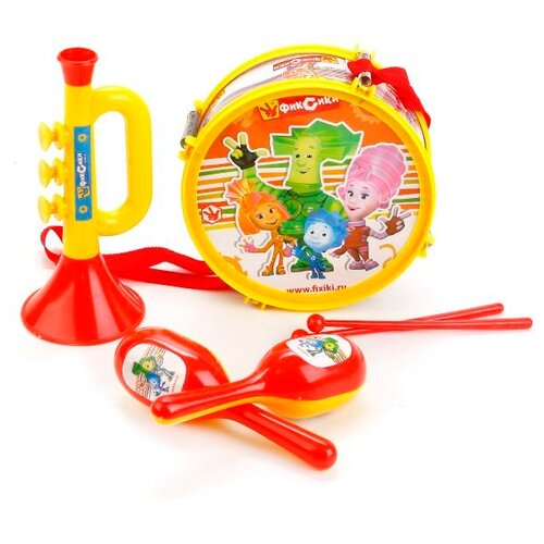 Купить Играем вместе набор инструментов Фиксики B678624-R1 желтый/красный, Детские музыкальные инструменты