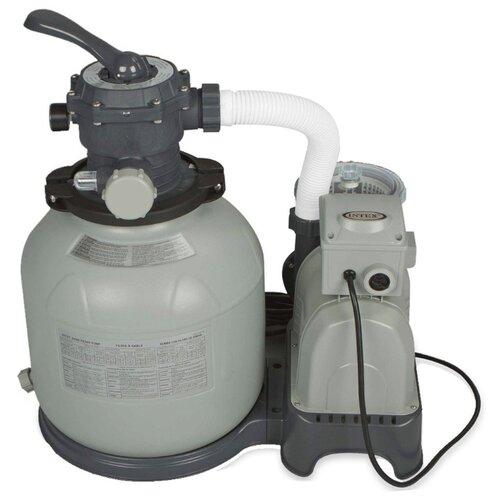 Песочный фильтр-насос Krystal clear 9200 л/час, 220-240 Вольт, Intex, арт. 26652 песочный фильтр насос intex 26644 krystal clear 4 5м3 ч резервуар для песка 12кг