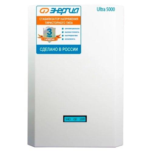 Стабилизатор напряжения однофазный Энергия Ultra 5000 фото