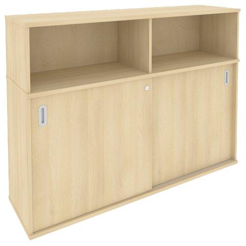 Шкаф офисный Riva Б.ШК-2 147.5x41x108.8 см акация лорка