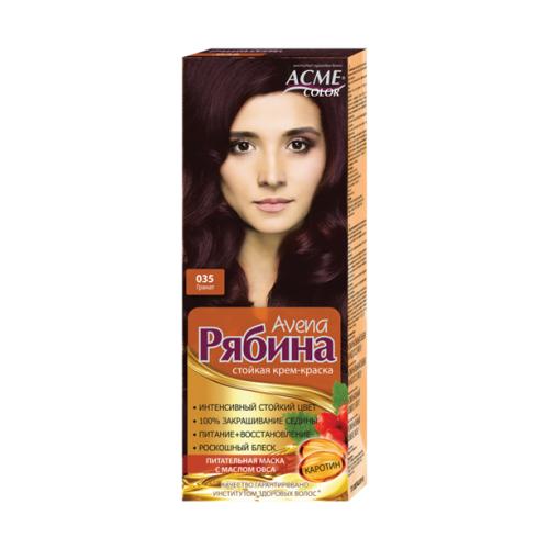 Фото - Acme-Color Avena Рябина стойкая крем-краска для волос , 035 Гранат acme color intence рябина краска для волос 111 мокрый песок