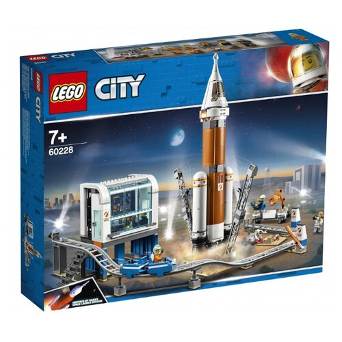 Конструктор LEGO City 60228 Ракета для запуска в далекий космос и пульт управления запуском конструктор city lego lego mp002xb00c9t