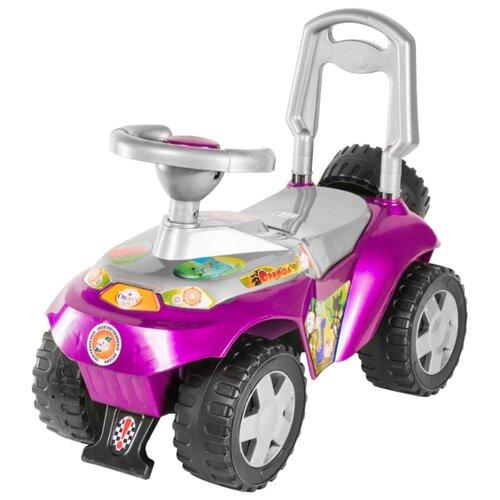 Купить Каталка-толокар Orion Toys Ориоша (198) со звуковыми эффектами розовый/серебристый, Каталки и качалки