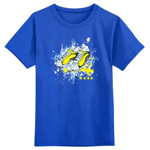 Купить Футболка Printio размер 2XS, синий, Футболки и майки
