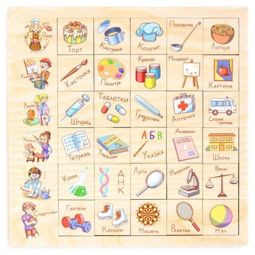 Настольная игра PAREMO Ассоциации Профессия paremo обучающая игра paremo ассоциации 30 элементов