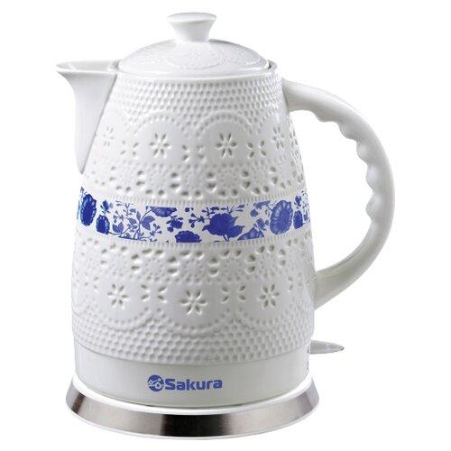 Чайник Sakura SA-2028P, белый/синий