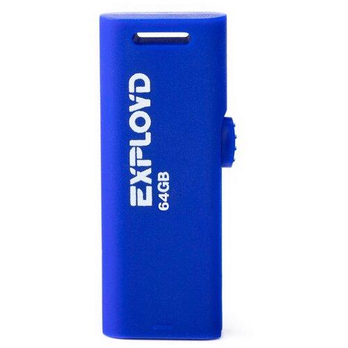 Фото - Флешка EXPLOYD 580 64 GB, blue флешка exployd 580 64 gb black
