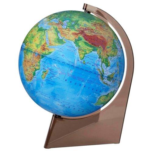Глобус физический Глобусный мир 210 мм (10273) прозрачный/коричневый