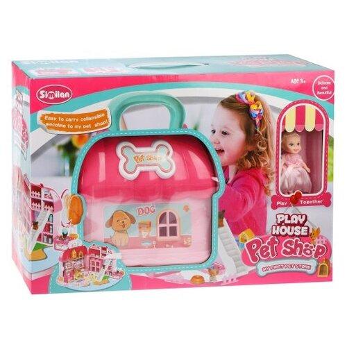 Купить Similan кукольный домик QL045, розовый, Кукольные домики