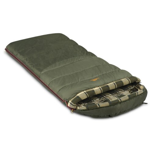 Спальный мешок Alexika Tundra Plus XL оливковый с левой стороны