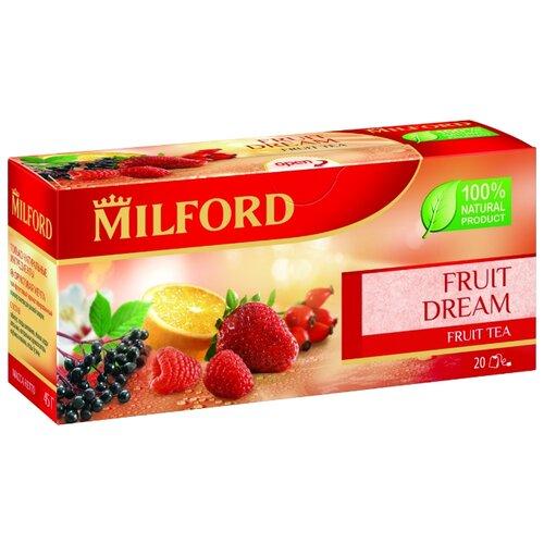 Чай красный Milford Fruit dream в пакетиках, 40 г, 20 шт. чай зеленый milford wellness в пакетиках 20 шт
