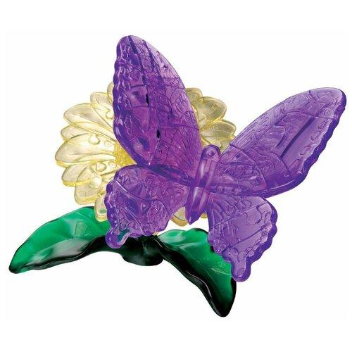 Фото - 3D-пазл Crystal Puzzle Фиолетовая бабочка (90222), 38 дет. 3d пазл crystal puzzle дельфин 91004 95 дет