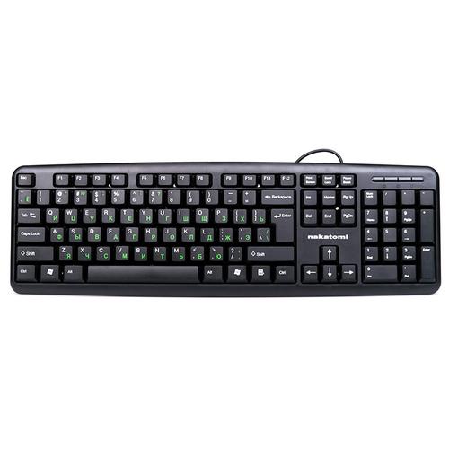 Клавиатура NAKATOMI KN-02P Black PS/2