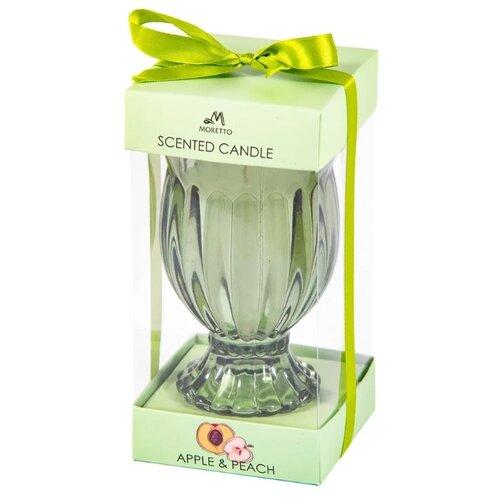 Свеча MORETTO Яблоко и персик 94140 зеленый