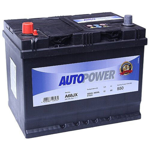 Автомобильный аккумулятор Autopower A68JX