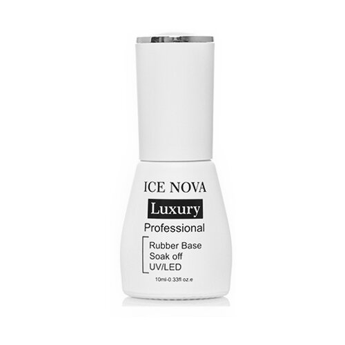 ICE NOVA базовое покрытие Rubber Base Luxury 10 мл прозрачный ice nova базовое покрытие base coat 10 мл прозрачный