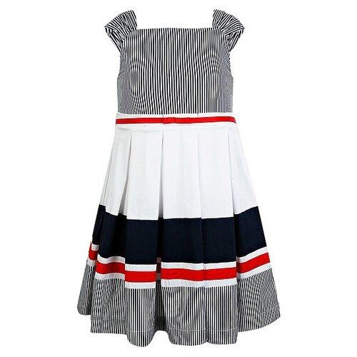 Купить Платье Mayoral размер 134, белый/синий/красный, Платья и сарафаны