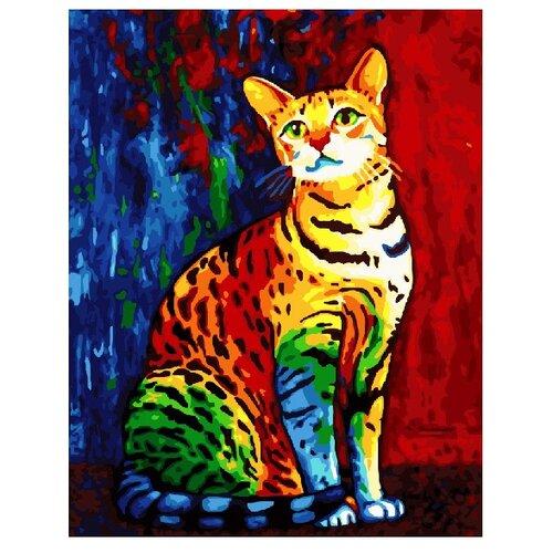 Купить ВанГогВоМне Картина по номерам Бенгальский кот , 40х50 см (ZX 20492), Картины по номерам и контурам