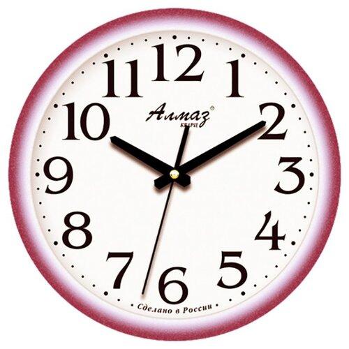 Часы настенные кварцевые Алмаз E21-E23 сиреневый/белыйЧасы настенные<br>