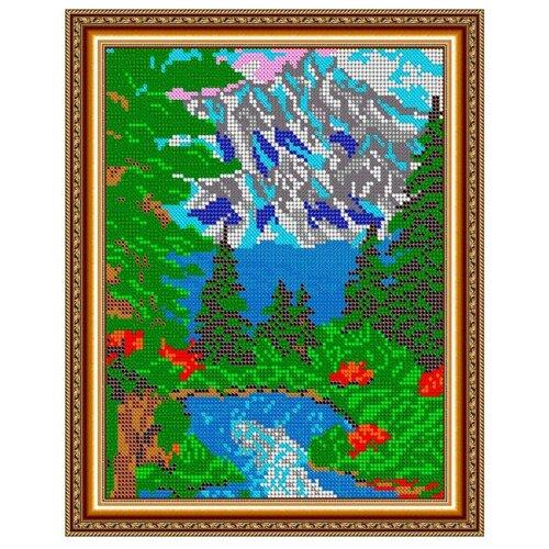 Светлица Набор для вышивания бисером Горное озеро 19 х 24 см, бисер Чехия (338П)