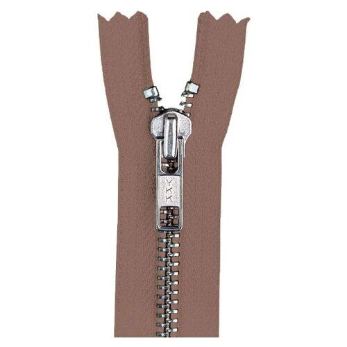 Купить YKK Молния разъёмная 0573985/55, 55 см, светло-коричневый/анти-никель, Молнии и замки