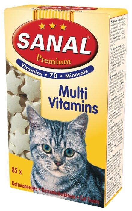 Добавка в корм Sanal Premium Multi Vitamins для кошек и котят 50 г