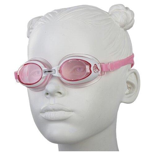 Фото - Очки для плавания Larsen DR15 розовый очки для плавания larsen dr g101 черный