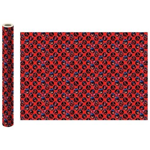 Бумага упаковочная ND Play Леди Баг и Супер-Кот №2 100х70 см 2 шт красный