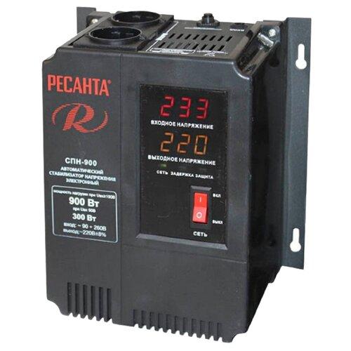 Стабилизатор напряжения однофазный РЕСАНТА СПН-900 (0.9 кВт) черный