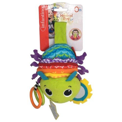 Купить Развивающая игрушка Infantino Гусеничка зеленый/голубой, Развивающие игрушки