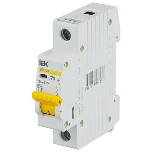 Автоматический выключатель IEK ВА 47-29 1P (C) 4,5kA 20 А автоматический выключатель эра ва 47 29 1p c 4 5ka 16 а