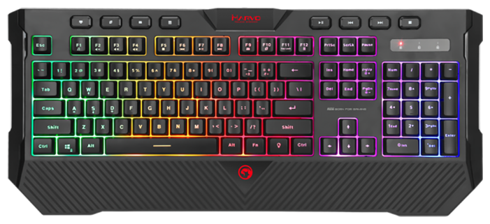 Игровая клавиатура MARVO K656 Black USB — цены на Яндекс.Маркете